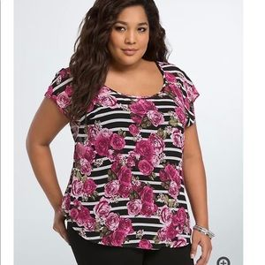 🛍 2/$15 Torrid Pink and striped top